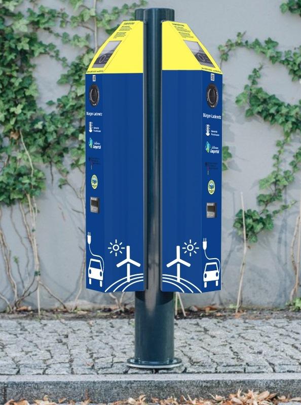 Bürger-Ladenetz 2 Ladepunkte mit Stehle