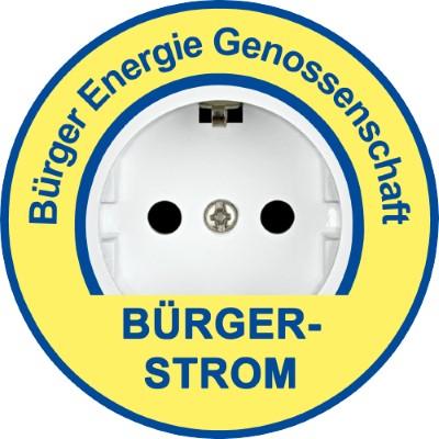 Logo Bürger-Strom BEG Freising mit Wind und Solarstrom aus dem Landkreis