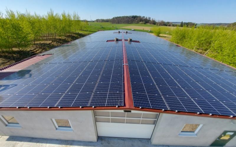 Luftbild Hühnerhof Hörgersdorf - BEG - Bürger Solardach