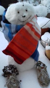 Schneemann-warming stripes Ed Hawkins - Klimawandel 210